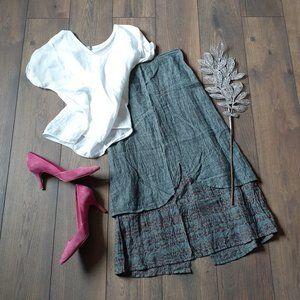 Flax | Layered Linen Skirt